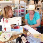 Trudi Deal Demonstrating The Craft Of Sewing