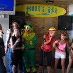 Singing Karaoke At Hugo's Bar (7)